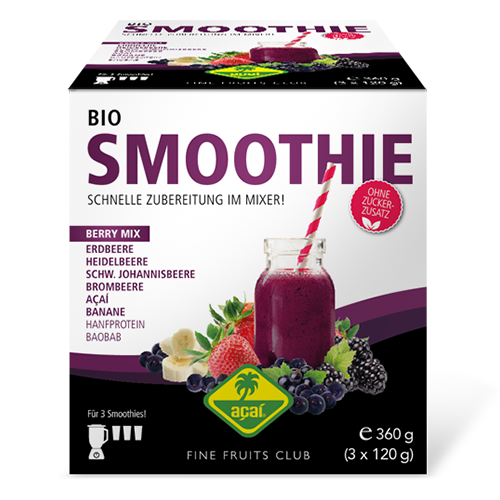 Organic berry smoothie mix - 360g (3x120g) retail pack