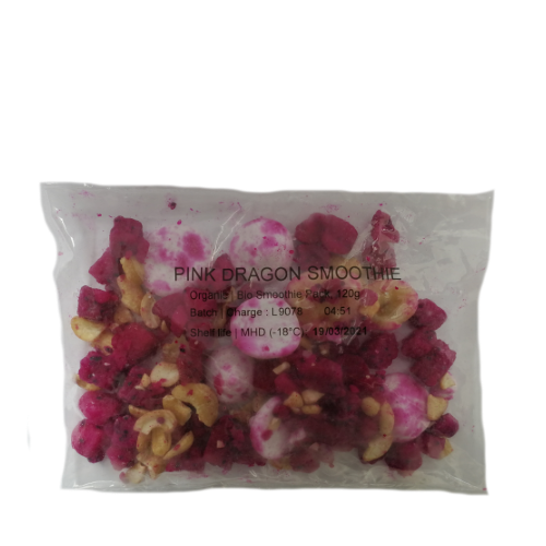 BIO Smoothie Packs PINK DRAGON MIX, 4,8kg (40 x 120g)