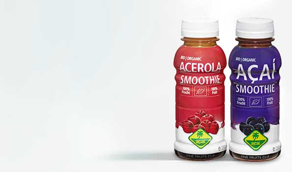 Ready-to-drink organic smoothies made from 100% fruit