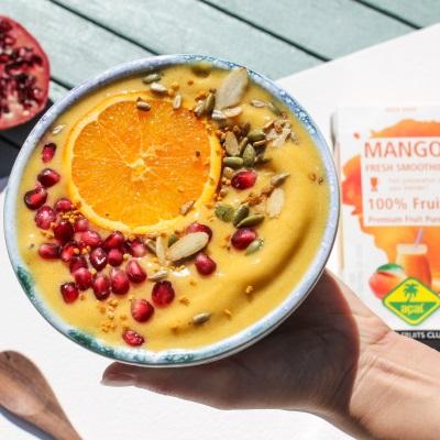 Recipe mango smoothie bowl
