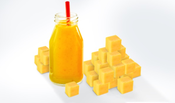 IQF cubes and pellets from fruit puree as an ingredient for smoothies