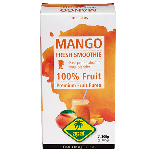 Mango Fruchtpüree 300g (3x100g) für Smoothies - Juice Pads - Fine Fruits Club