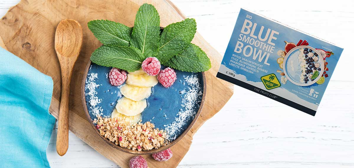 Try our organic Blue Smoothie Bowl now!